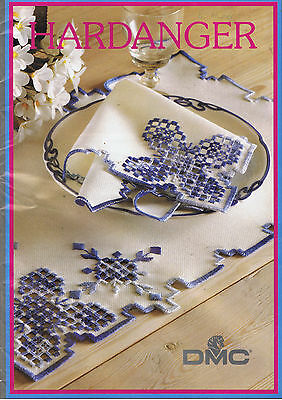 HARDANGER EMBROIDERY pattern DMC book