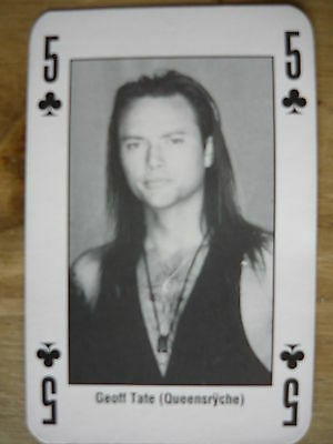 Geoff Tate (Queensryche) - Kerrang Playing Card