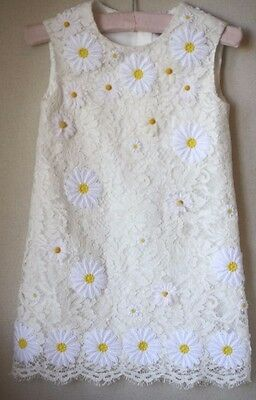 Dolce And Gabbana Baby Embroidered Lace Daisy Dress 3 Years