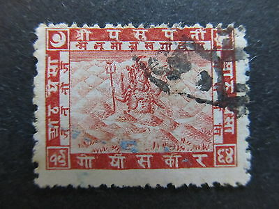A4P36 Nepal 1907 8p used #28