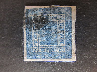 A4P36 Nepal 1898-1917 native wove paper 1a pale blue used #10