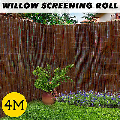 4m Long 5 Size Willow Screening Roll Garden Fencing Panel Fence Privacy Screens