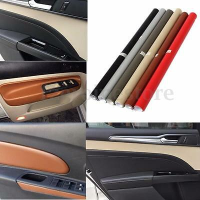 Auto Car Interior Sticker DIY Leather Texture Dashboard Trim Wrap Sheet Film HOT