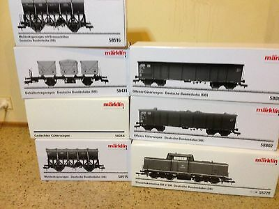 Diesel Loco with 6 goods wagon