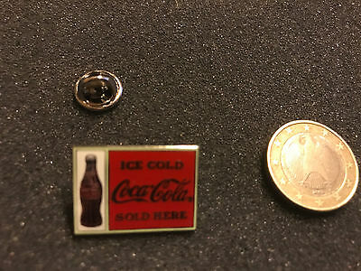 Coca Cola Pin Badge ICE COLD SOLD HERE
