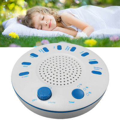 9 Sounds White Relax Machine Deep Sleep Solution Noise Nature Peace Therapy
