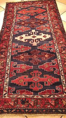Hand Knotted Persian Shiraz Heriz 3.2X6.6Ft Rug W9
