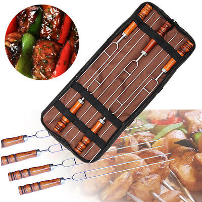 Barbecue Tools 5 Piece Set Stainless Steel Meat Grill Fork Outdoor Cooking New