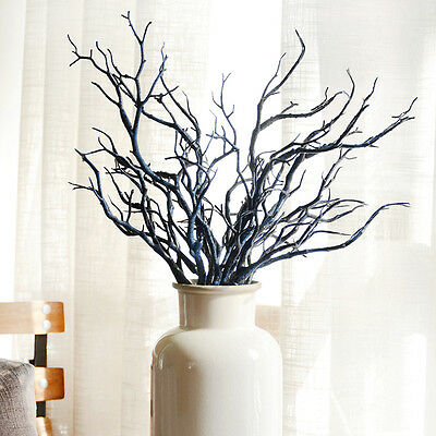 35cm Artificial Branch Flower Plastic Small Tree Dried Plant Home Wedding Decor