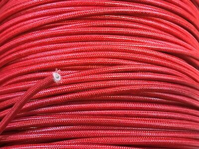 Srml Red 10 Awg 50' Ft Fiber Glass Braid Appliance Hi Temp Wire Motor Lead