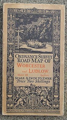 "Ordnance Survey 1/2"" Map  Sheet 22 Worcester and Ludlow Layers"