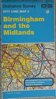 "Ordnance Survey 1"" to 2 miles City Link Map 3 Birmingham and the Midlands"