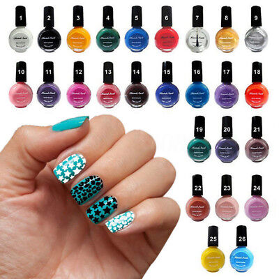 10ml Vernis à Ongles Stamping Polish Non Toxique Stamp Pochoir Tampon Nail Art