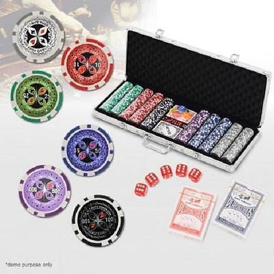500 Chip High Quality Professional Poker Game Play Set in Aluminium Carry Case