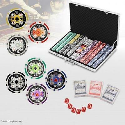 1000 Chip High Quality Professional Poker Game Play Set in Aluminium Carry Case