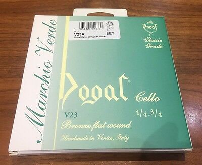 Dogal Green Label Cello Strings 4/4 3/4 RRP 44.99