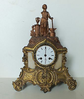 Antique Clock Rococo Ormolu Style French ...Working and For Restoration