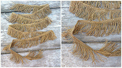 Antique XIX eme century  French  metallic  golden fringes /vestment