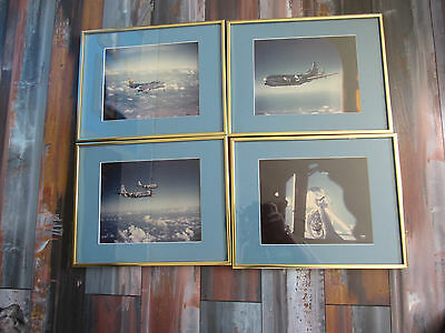 Set Of 4 US Air Force Framed Aircraft Pictures Military Photos