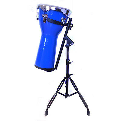 Professional DJEMBE DRUM with STAND blue hand percussion African drums 2 ft tall