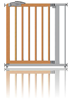Clippasafe Pressure Fit Safety Stair Gate Metal & Wood Fits 71 - 80cm Opening