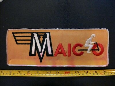 Embroidered patch MAICO usa motorcycle biker back vintage original LRG