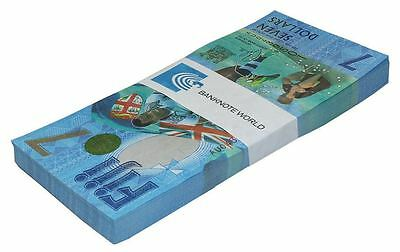Fiji 7 Dollars X 100 Pieces (PCS), 2016,P-NEW,UNC,Rugby 7s Gold Olympians Brazil