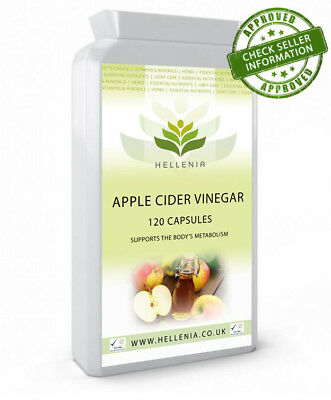 Hellenia Apple Cider Vinegar 500mg - 120 Capsules - Support your metabolism