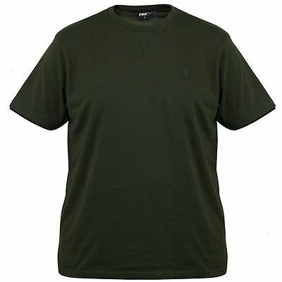 Brand New 2017 Fox Fishing Green Black Brushed T Shirt - All Sizes Available
