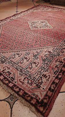 Collectible Vintage Hand Knotted Persian Heriz 4.2X6.6Ft W19