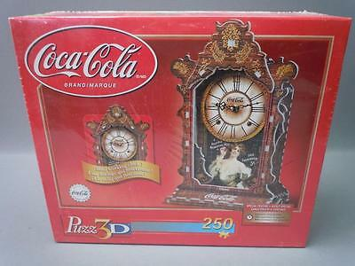 Vint Coca-Cola Real Working Clock 250 Piece Puzz 3D Jigsaw Puzzle Wrebbit Sealed