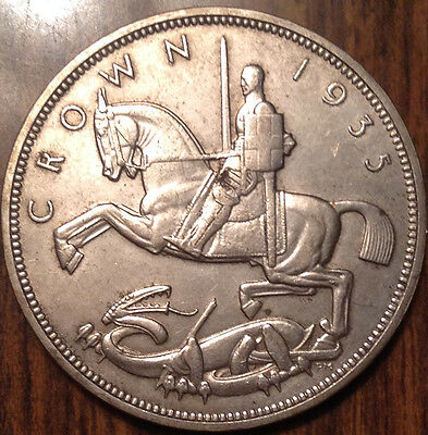 1935 Uk Gb Great Britain Silver Crown