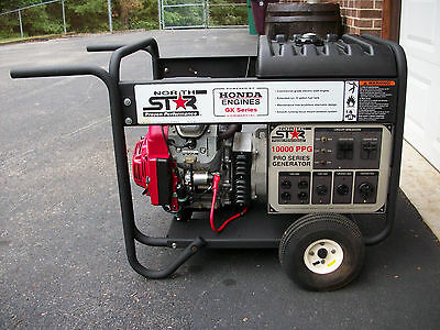 NorthStar Professional Portable Generator 10,000 KW 165967 Electric Start Honda