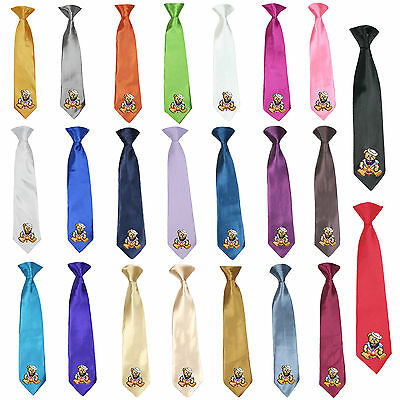 23 Color Stain Solid Clip-on Sailor Bear Necktie Boys Formal Suits Newborn - 7