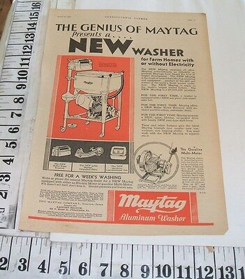 9 Maytag Washer Ads 1929-1930