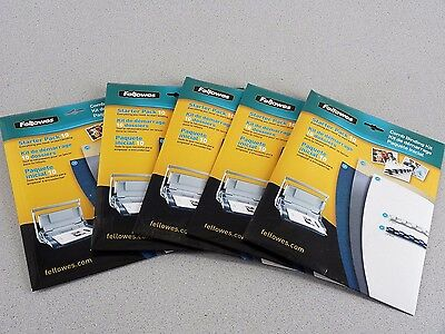 Fellowes Booklet Comb Binding Supplies 50 Spines w 50 Covers Free Shipping!