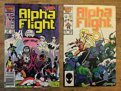 Alpha Flight 33 and 34 *First Lady Deathstrike* NICE BOOKS NM