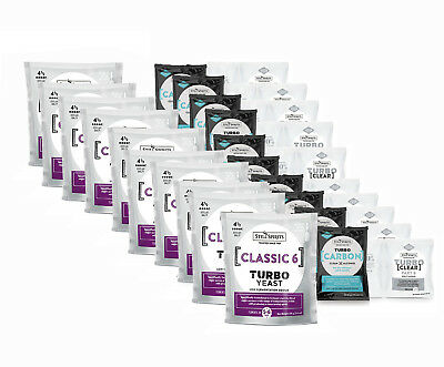 Free Shipping 10 x Still Spirits Turbo Classic 6 Yeast Carbon Clear Home Brew