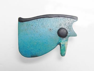 Zurqieh - Af2212- Ancient Large Faience Eye Of Horus Amulet, 1075 - 600 B.c