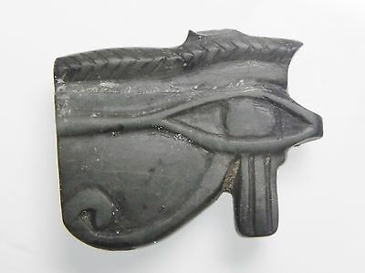 Zurqieh - Af2217- Ancient Stone Eye Of Horus Amulet, 1075 - 600 B.c
