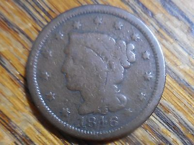 1846 Braided Hair Large Cent (seller's note # 8275)