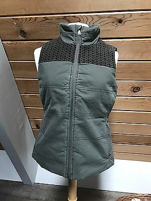 PrAna Fada Quilted Vest Cargo Green Size Small Olive Patagonia