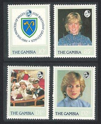 Gambia 21st Birthday of Diana Princess of Wales 4v SG#476/79