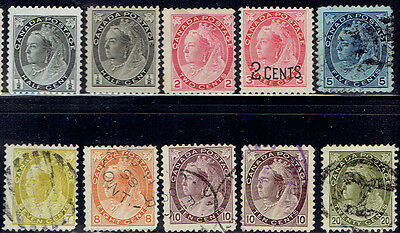Canada Victoria Cents mint and used stamps