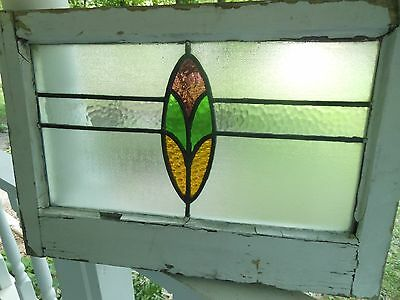 MA9 271 Older Pretty Multi-Colored English Leaded Stained Glass Window