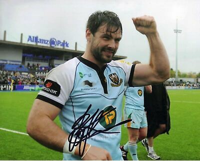 Ben Foden Genuine Hand Signed 10X8 England & Northampton Rugby AFTAL COA (2360)