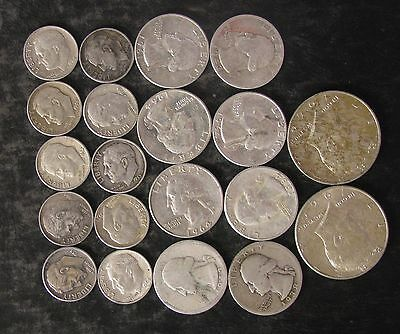 "Lot: $4.00 Face Value US 90% Silver Coins, ""Junk Silver"", pre-1965 - No Reserve"
