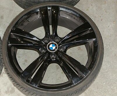 "20"" 20 inch Genuine BMW X5 X6 M SPORT ALLOY WHEELS IN BLACK MAGS RIMS commodore"