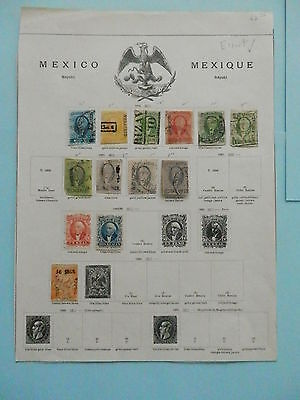 Mexico Fantastic Old Collection 1856-1864 On Page Dr Schultz Estate !!9045M