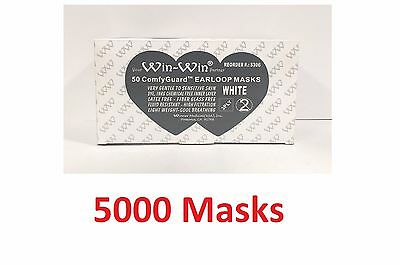 5000 Earloop Face Mask 3PLY Disposable Dental Medical Surgical Flu Dust Nail-FDA
